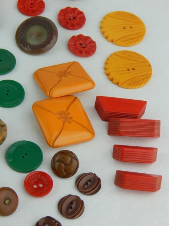 Vintage Bakelite and Celluloid Button Collection - 3