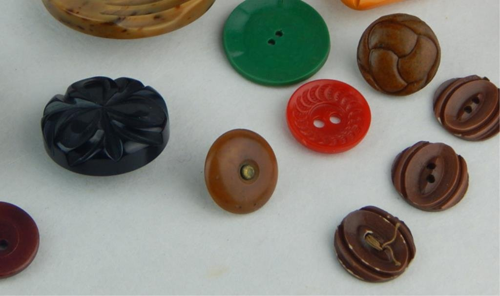 Vintage Bakelite and Celluloid Button Collection - 4