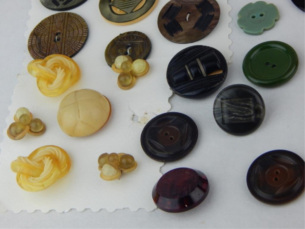 Vintage Bakelite and Celluloid Button Collection - 5