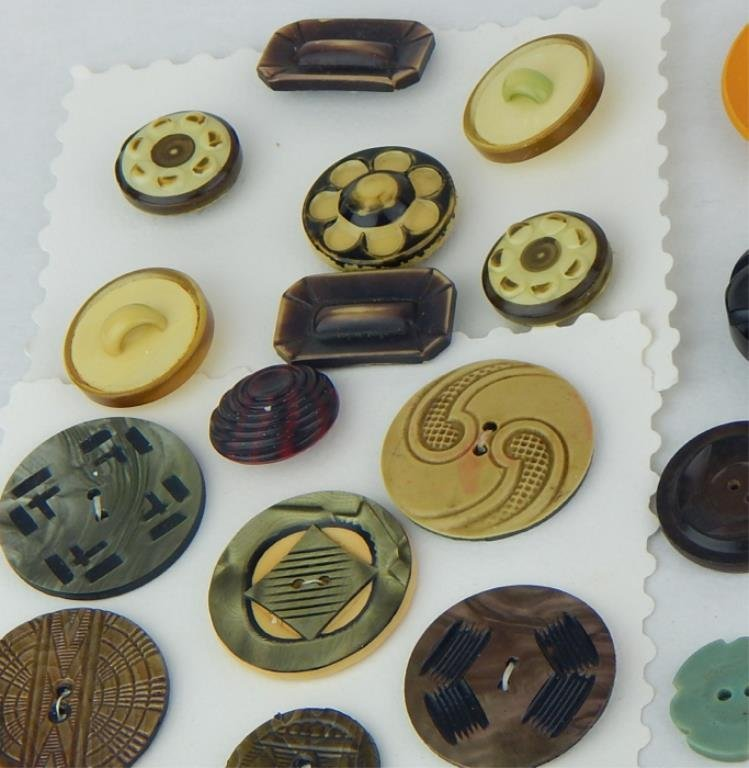 Vintage Bakelite and Celluloid Button Collection - 6