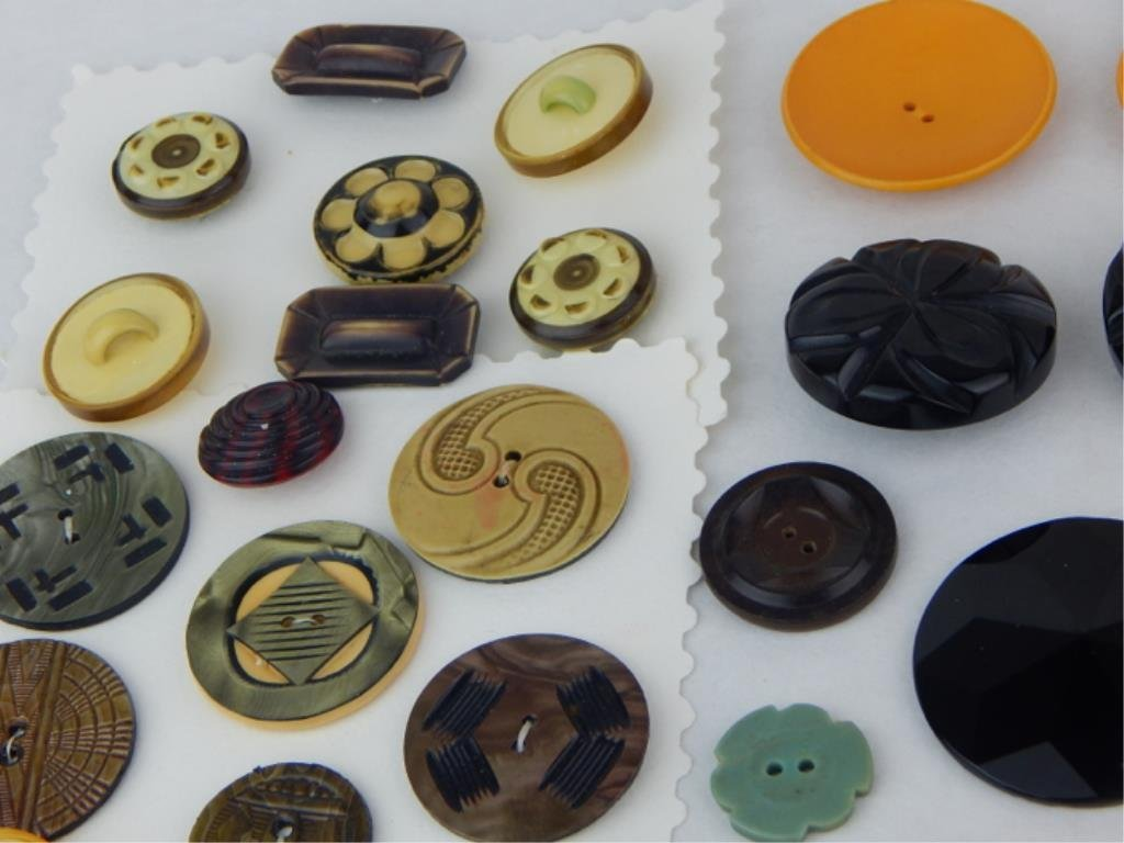 Vintage Bakelite and Celluloid Button Collection - 7