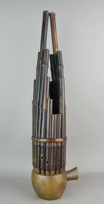 Chinese Bamboo and Brass Sheng Instrument