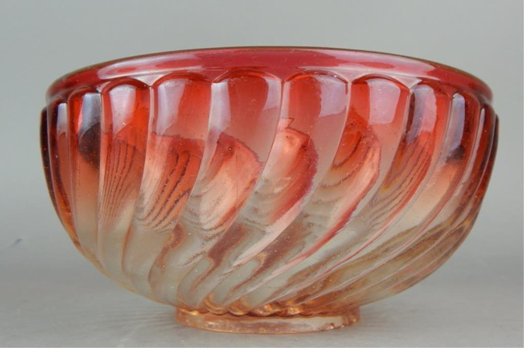 Baccarat Amberina Glass Serving Bowl - 2