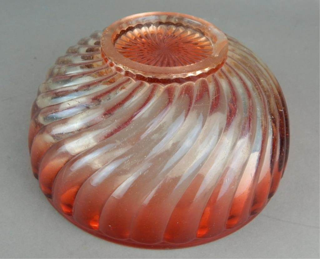 Baccarat Amberina Glass Serving Bowl - 4