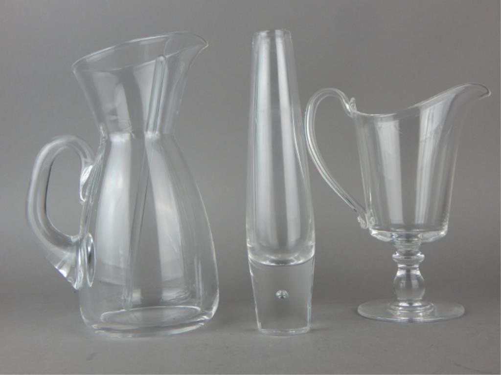 Steuben Glass Vase, Pitchers and Stirrer - 2