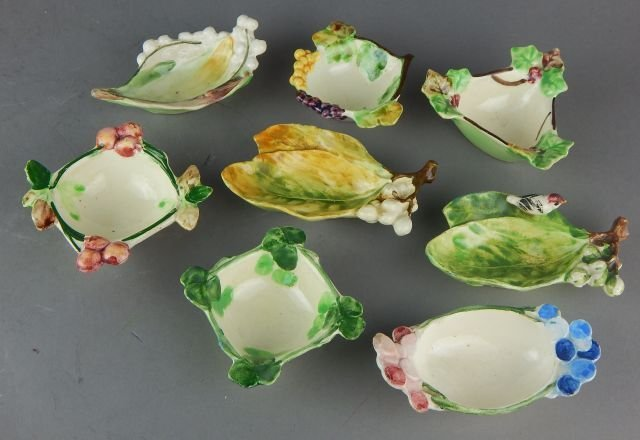 Eight Italian Porcelain Condiment or Nut Dishes
