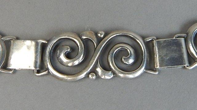 Sterling Silver Bracelet,Earrings and Ring - 5