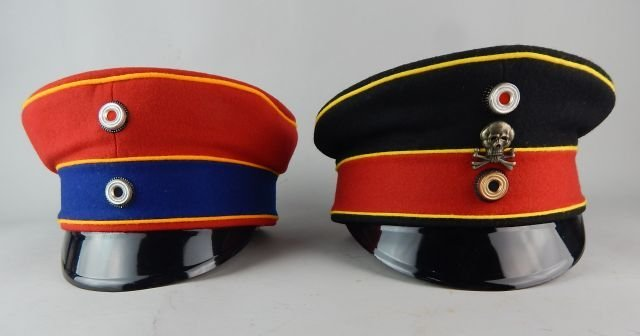Two German Imperial Guard Hats