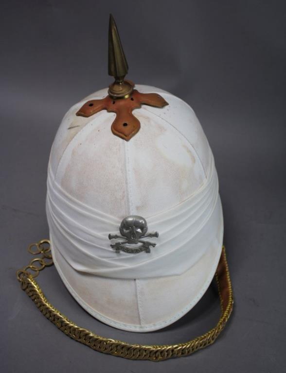 British White Pickelhaub Spike Helmet