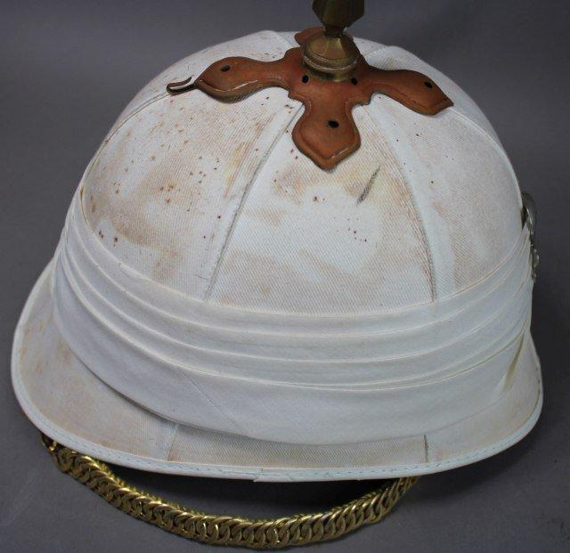British White Pickelhaub Spike Helmet - 2