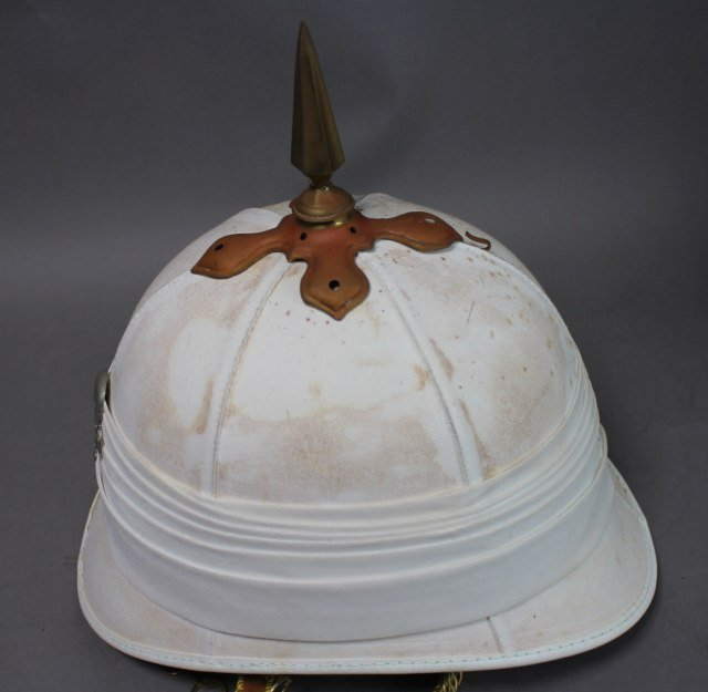 British White Pickelhaub Spike Helmet - 3