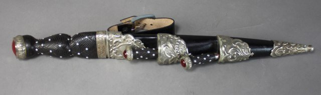 Jeweled Dagger With Knife And Fork - 6