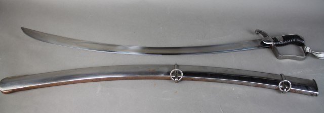 Sword With Steel Scabboard