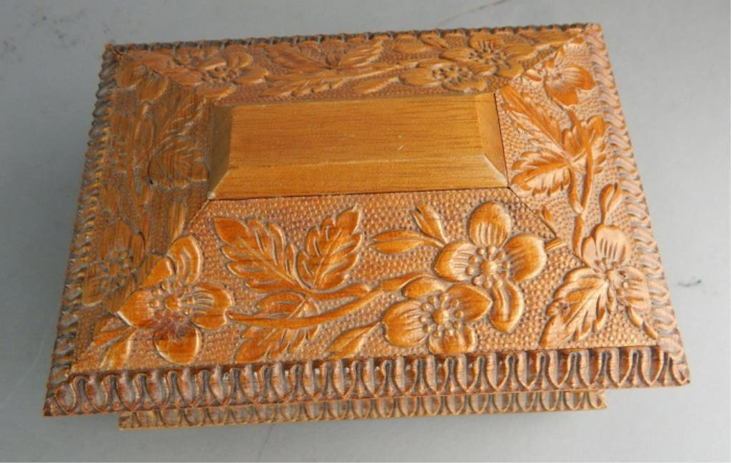 Reuge Swiss Carved Wood Music Box - 3