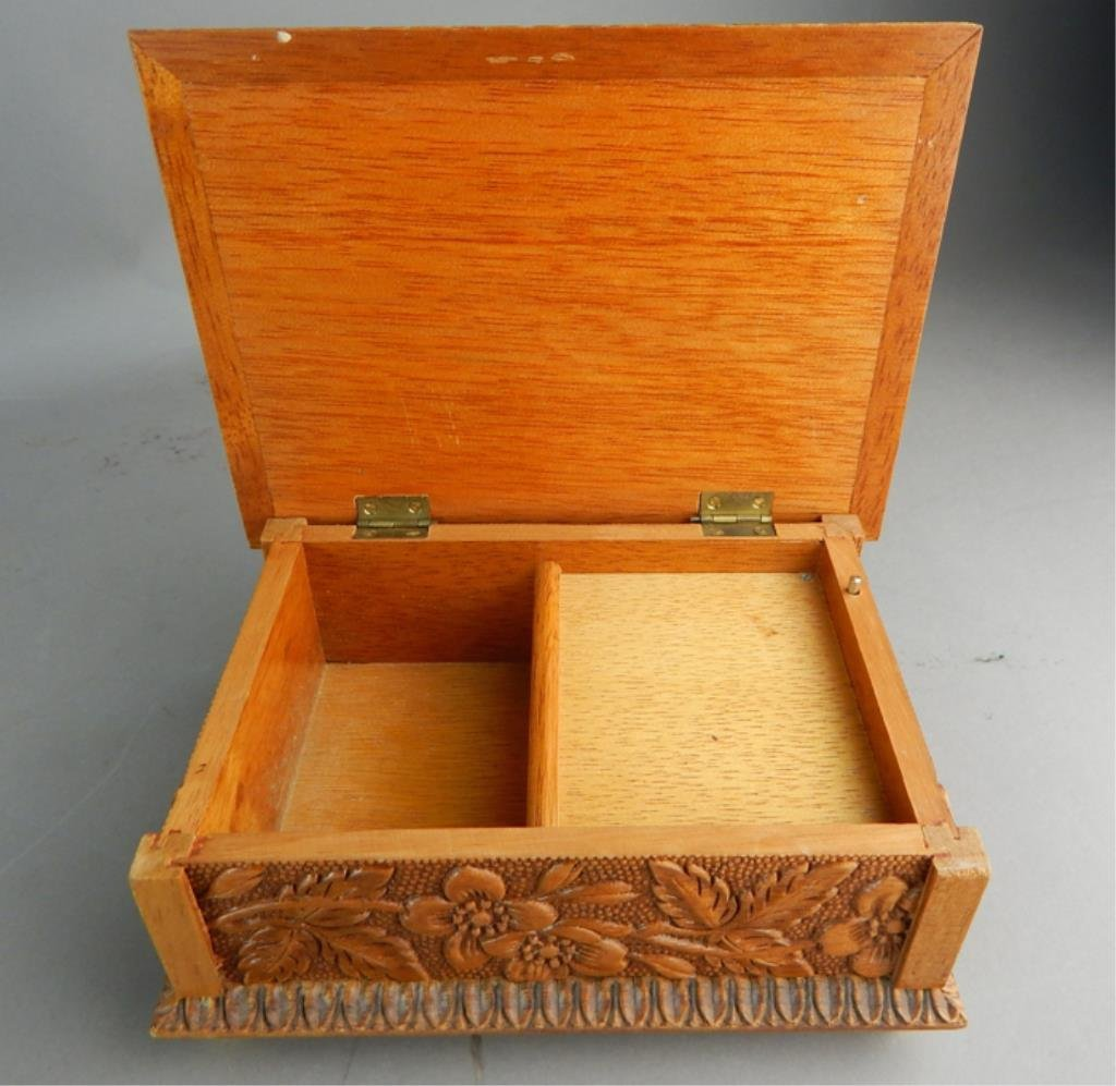 Reuge Swiss Carved Wood Music Box - 5