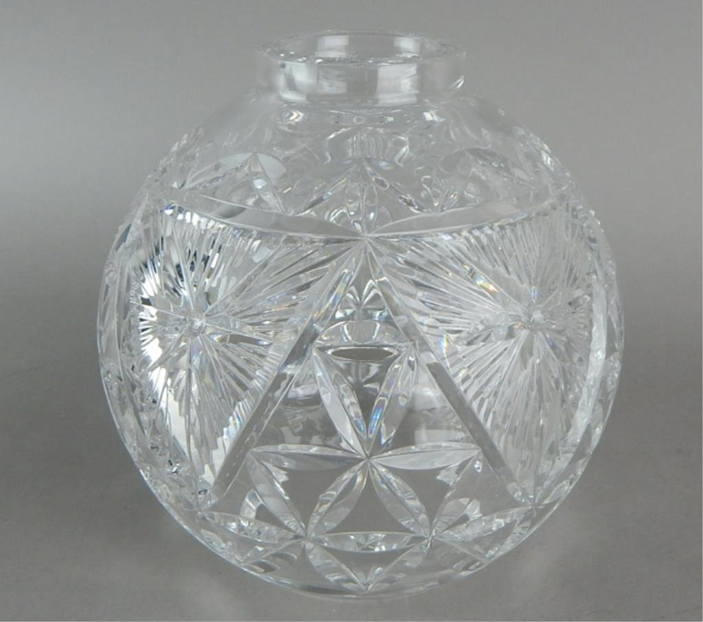 Two Waterford Crystal Hurricane Shades - 3
