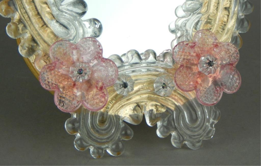 Italian Murano Art Glass Vanity/Table Top Mirror - 2