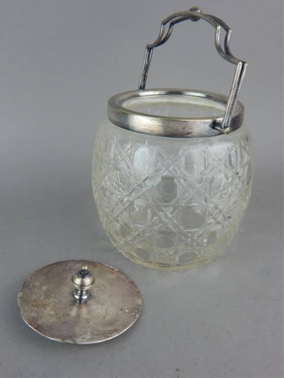 Vintage Cut Crystal Biscuit & Condiment Jars - 3