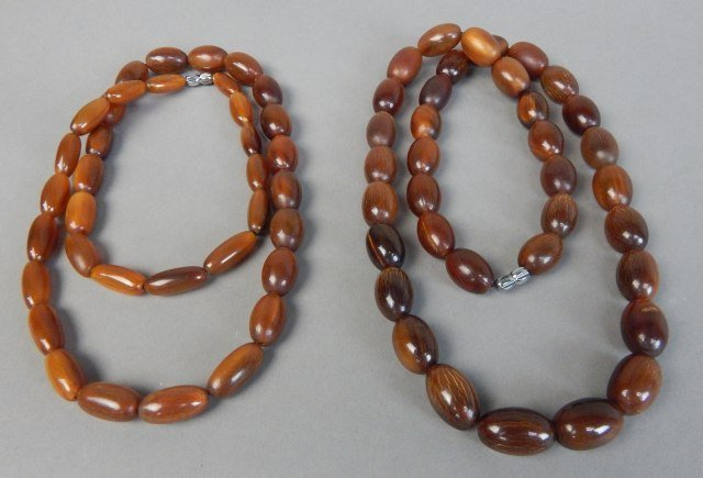 Two Ox Horn Necklaces - 4