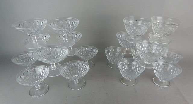 Vintage American Fostoria Glass Desserts