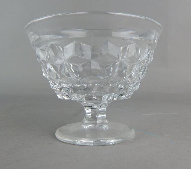Vintage American Fostoria Glass Desserts - 5