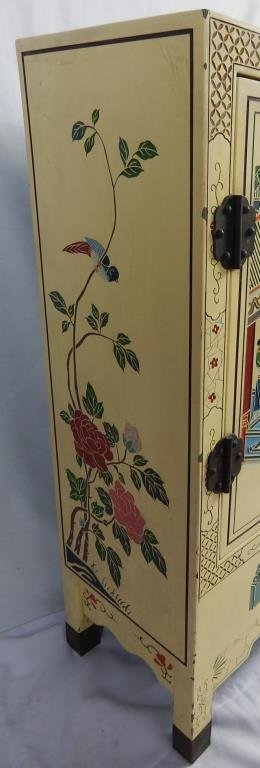 Chinese Hand Painted Lacquered Cabinet - 2