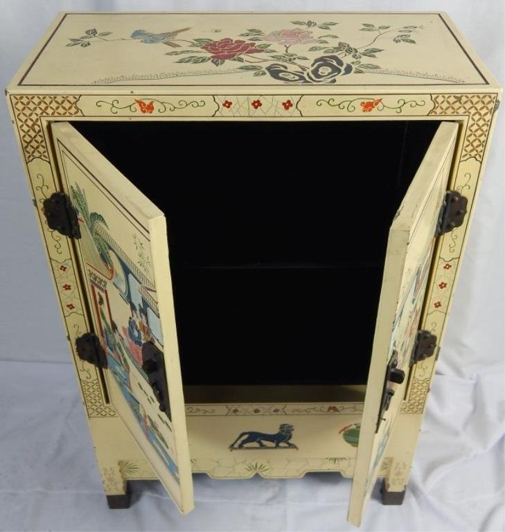 Chinese Hand Painted Lacquered Cabinet - 3