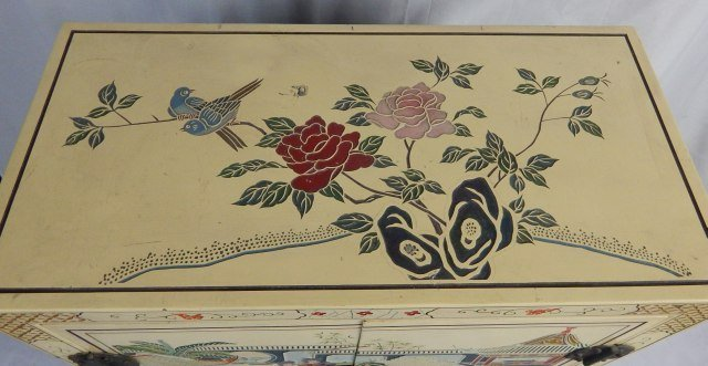 Chinese Hand Painted Lacquered Cabinet - 5