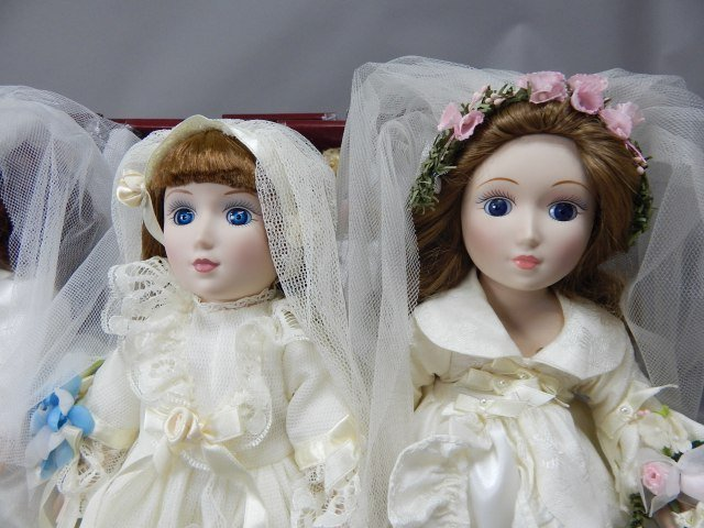 """Danbury Mint"" Bride Dolls - 3"