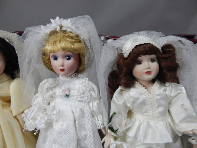 """Danbury Mint"" Bride Dolls - 4"