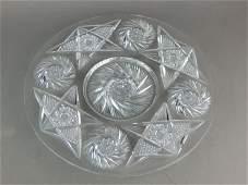 American Brilliant Cut Crystal Cake Plate