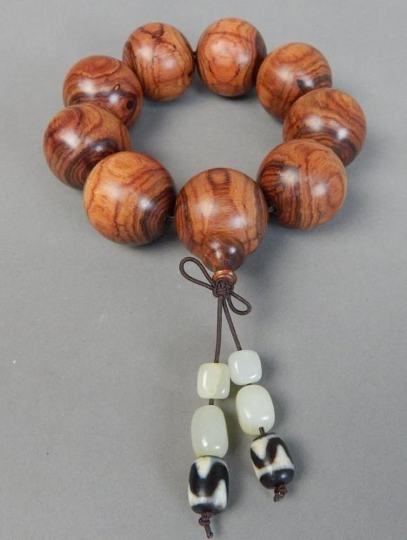 Huanghuali Wood Bead Bracelet