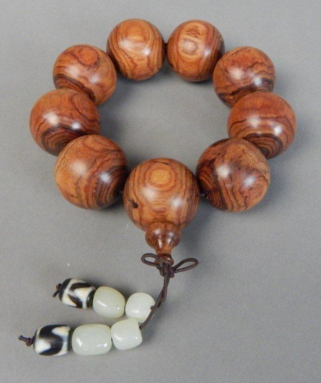 Huanghuali Wood Bead Bracelet - 2