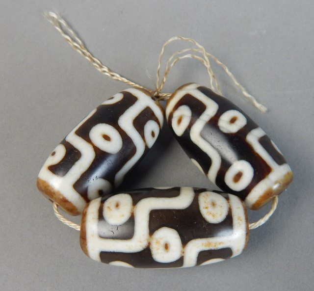 Three 9-Eye Tianzhu Beads