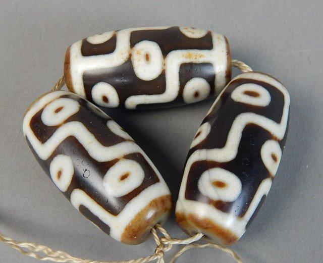 Three 9-Eye Tianzhu Beads - 2