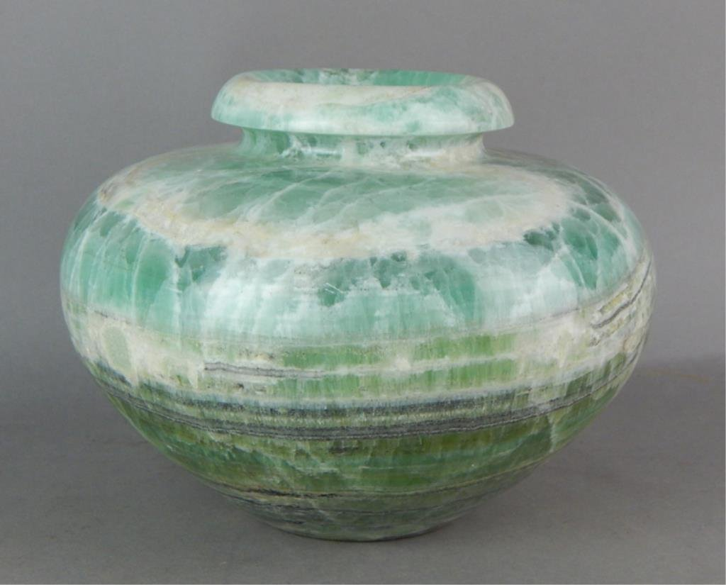 Green Marble Pot or Vase