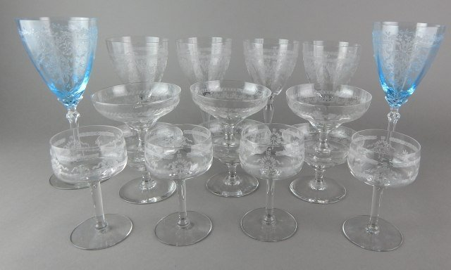 Etched Stemware and Desserts