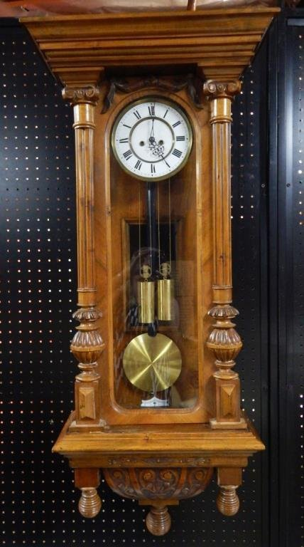 1870's 2 Weight Regulator 8-Day Clock