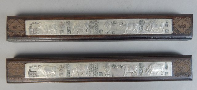 Two Chinese Qing Year Paper Weights