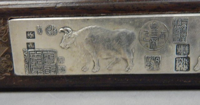 Two Chinese Qing Year Paper Weights - 3