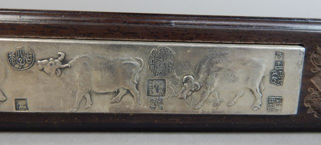 Two Chinese Qing Year Paper Weights - 5