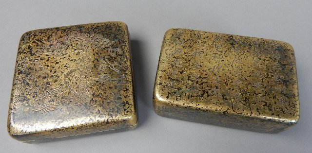Two Qing Year Metal Boxes