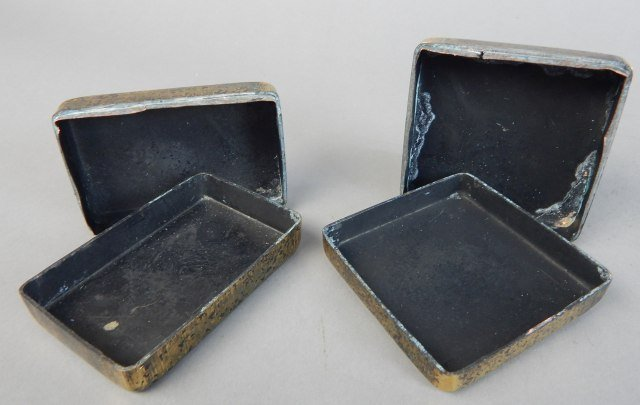 Two Qing Year Metal Boxes - 7