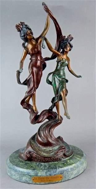 """Modern Bronze """"La Danse De Nymphes"""" Sculpture"""