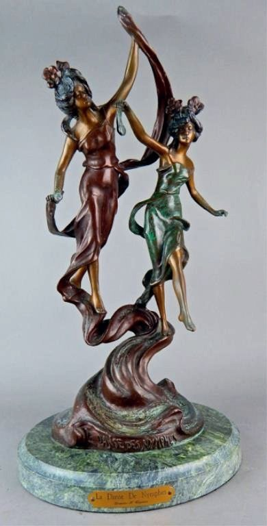 "Modern Bronze ""La Danse De Nymphes"" Sculpture"
