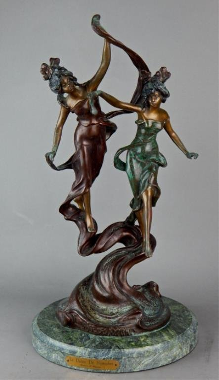 "Modern Bronze ""La Danse De Nymphes"" Sculpture - 2"
