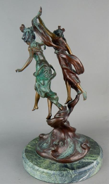 "Modern Bronze ""La Danse De Nymphes"" Sculpture - 4"