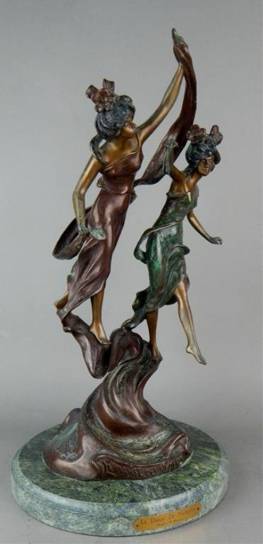 "Modern Bronze ""La Danse De Nymphes"" Sculpture - 5"