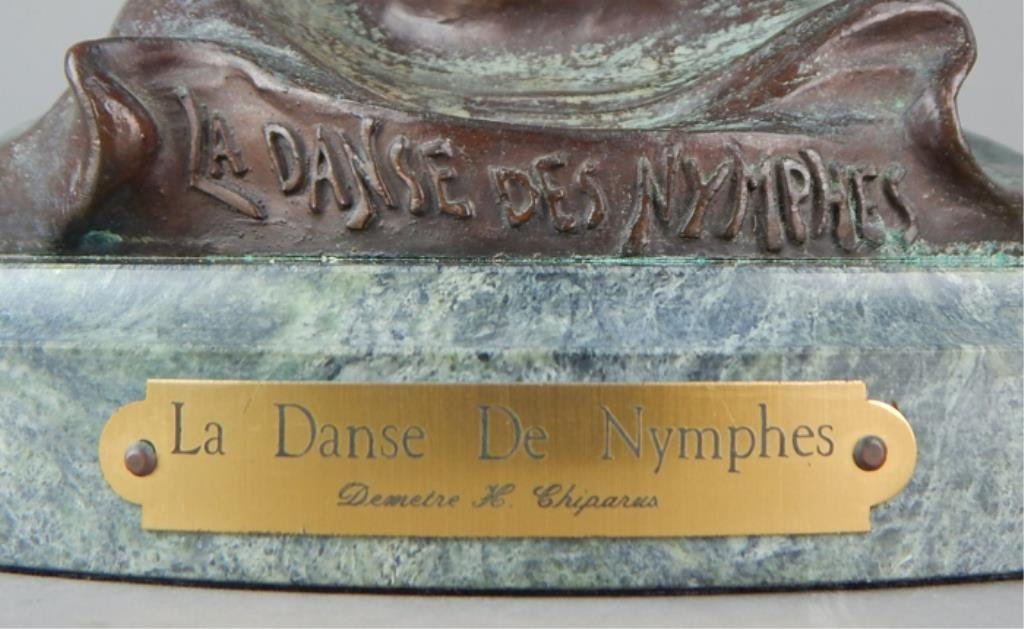"Modern Bronze ""La Danse De Nymphes"" Sculpture - 6"