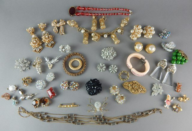 Fifty-Seven Piece Vintage Costume Jewelry